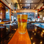 brewery photography of glass of butte brewing beer in butte montana