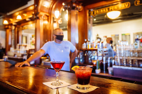 bar photography of two freshly made drinks at headframes spirits in butte montana
