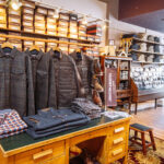 retail photography for mens weins store interior