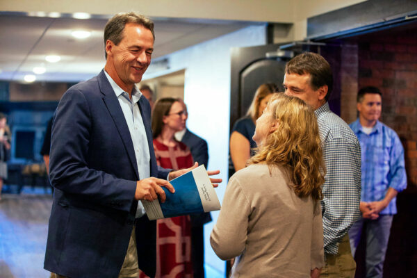 event photography of montana governor at safe schools summit in butte montana